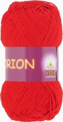 Пряжа Vita Cotton Orion цвет 4578 алый