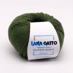 Пряжа Lana Gatto Super Soft цвет 13278 хаки